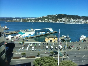 "Wellington harbour from our room. Thank you ""Audley"" superb."