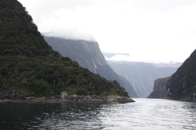 Milford Sound from the Tasman Sea.