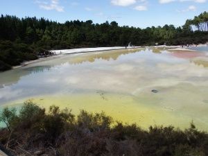 The Artists Palette a panorama of hit and cold pools and steaming hissing fumeroles