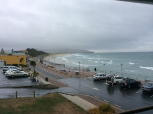It now looks like this! Hasn't stopped the surfers. I suppose if you are already wet ........................