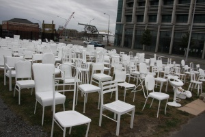 These chairs represent all the people who died. Again a moving moment.