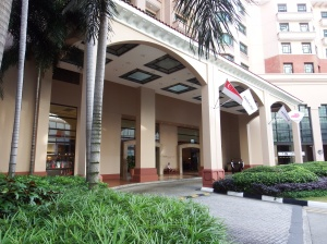 Exterior of the Hotel.
