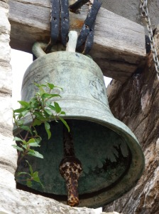 The bell could be seen but the the church was closed.