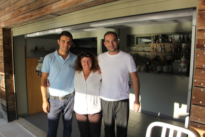 The lovely, lovely staff. Tassos is on the left.