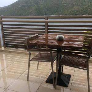 Unfortunately the balcony is not rain resistant.